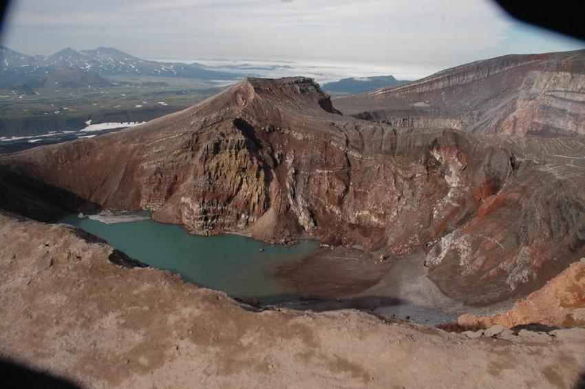 3Д панорама в Кальдере вулкана Узон
