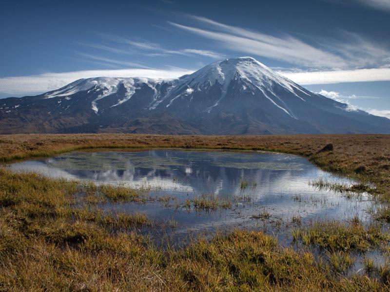 3D видео извержения вулкана Плоский Толбачик